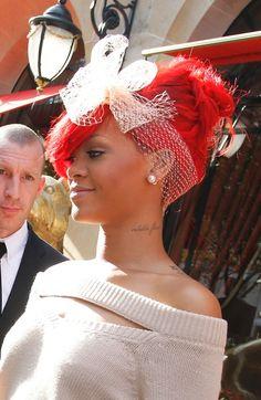 Rihanna red hair style