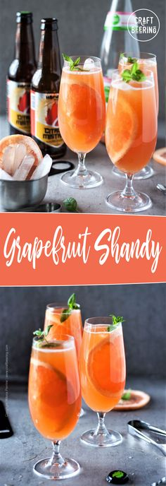 Grapefruit shandy is refreshing and easy to make! Like a radler but with IPA and grapefruit soda. Craft beer cocktail everyone can like!