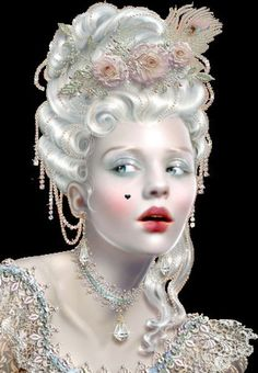 Image result for rococo 18th make up