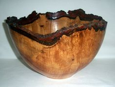 Silver Maple Bark Edge Turned Bowl from Wood Turning to Art on Etsy