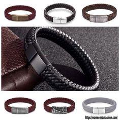 J&I Braided Leather Bracelet Fashion Beauty, Mens Fashion, Make A Gift, Bangles, Bracelets, Braided Leather, Winter Christmas, Nba, Braids