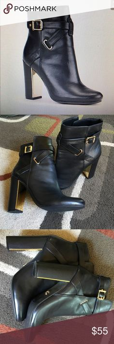 """HPC Wonder ankle boots  Host Pick style obsession party  Black with gold hardware heel is 4""""  Excellent condition  C Wonder Shoes Ankle Boots & Booties"""