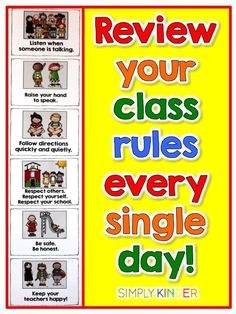 Remember to practice your rules every day all the way to the last day of school. Let kids know these are important enough to do so! #SimplyKinder
