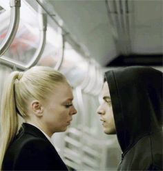 Rami Malek and Portia Doubleday as Elliot & Angela in Mr. Robot (2015-present)