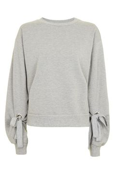 Tie Sleeve Blouson Sweat Top