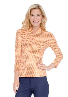 I know, orange, but the pattern. Reminds me of a classic linked-rings pattern, yet somehow looks nautical and ropey?