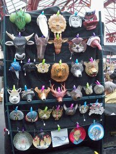 paper masks made from Wasara plates
