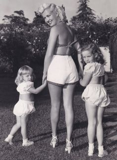 Betty Grable and her daughters