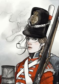 #illustration #artwork #girl #fashion #history #Napoleonic #military #drawing #drawn - from @shugmonkey on Ello.