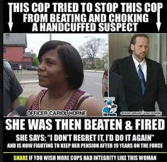 This is what happens when the good cops report the bad cops.