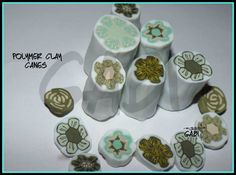 Flower polymer clay canes