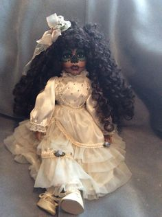 Day of The Dead Doll by grandmaswitchesbroom on Etsy