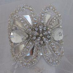 Wedding Cuff bracelet Bridal Cuff Bracelet by vineyardcreek, $46.00