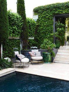 patio pool & garden