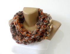 Scarf necklaceloop scarfinfinity scarfneck warmerhand by seno, $27.00