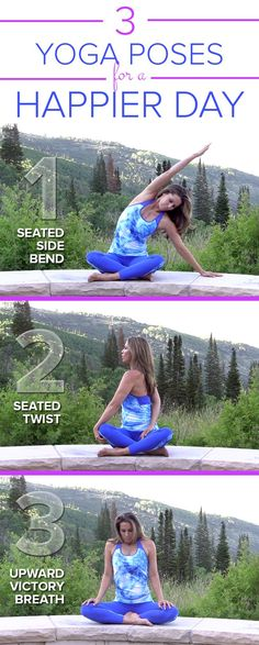 Start your day right with these three simple yoga poses! You can do them anywhere.