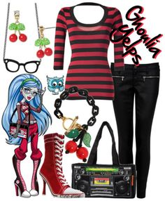 Monster High's Ghoulia Yelps dress up Cute Emo Outfits, Hot Outfits, Cosplay Outfits, Girl Outfits, Fashion Outfits, Disney Outfits, Cosplay Ideas, School Outfits, Monster High Makeup