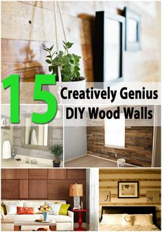 Sometimes adding just a little something to a room can completely change how it looks. If you've wondered about redecorating and want something that makes a big statement but you don't want to spend a big chunk of your paycheck, we have just the collection for you. These 15 themed wood walls are...