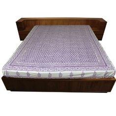 Drap violet (teintures végétales) en coton - Linge 218 x 264 cm: Amazon.fr: Cuisine & Maison