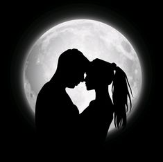 Soulmates & Twin Flames: How the Super Blood moon Eclipse Will affect Love Relationships - Super Blood Moon Lunar Eclipse will have a very big impact on all Divine Partners (Soulmates & Twin - Couple Silhouette, Silhouette Art, Cute Couple Drawings, Love Drawings, Love Images, Love Pictures, Couple Pictures, Pictures Images, Blood Moon Eclipse