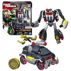 Hasbro Year 2012 Transformers Generations Fall of Cybertron Series 01 Voyager Class 712 Inch Tall Robot Action Figure Set 002  Decepticon SOUNDBLASTER with Blaster Pistol and BUZZSAW Data Disc Figure Vehicle Mode Communications Truck *** Click image for more details.Note:It is affiliate link to Amazon.