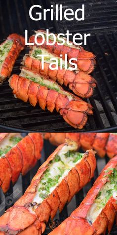 Making grilled lobster tail is easy and out-of-this-world delicious. These juicy lobster tails are grilled with lemon garlic and herb finishing butter. Barbecue Recipes, Grilling Recipes, Cooking Recipes, Vegetarian Grilling, Healthy Grilling, Grilling Shrimp, Seafood Bbq, Barbecue Shrimp, Barbecue Chicken