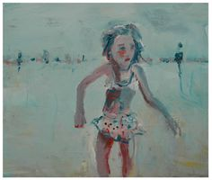 "Saatchi Art Artist Victor van de Lande; Painting, ""Girl on the beach - Danseresje op het strand"" #art"
