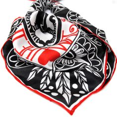 The Three Craws scarf. Beautiful silk square made in the UK. Scottish Gifts, Crow, Alexander Mcqueen Scarf, Artists, Handbags, Silk, My Style, How To Make, Beautiful