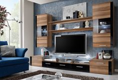 Modern Living Room Designs Ideas With FRESH Modern Wall Unit / Entertainment Centre / Spacious and Elegant Furniture / Tv Cabinets / Tv Stand for Modern Living Room / High Capacity Living Room Furniture (Plum tree) Living Room Wall Units, Living Room Storage, Living Room Modern, Tv Console Modern, Modern Tv Wall Units, Modern Wall, Modern Entertainment Center, Entertainment Wall Units, Tv Cabinet Design