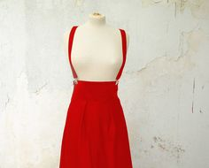 Hey, I found this really awesome Etsy listing at http://www.etsy.com/listing/167768626/red-suspender-skirt-high-waisted-also