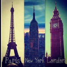 Paris, New York, London.already seen nyc.hope i can see the other two some day! Oh The Places You'll Go, Places To Travel, Places To Visit, Vacation Places, Dream Vacations, Travel Destinations, World Cities, Best Cities, Paris Tumblr