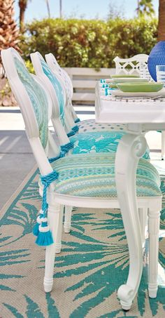 The timeless quatrefoil shape of this dining chair goes irresistibly whimsical.