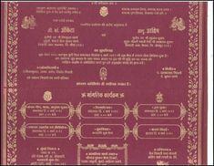 Wedding Card Matter In Hindi Nit Pinterest Wedding Cards