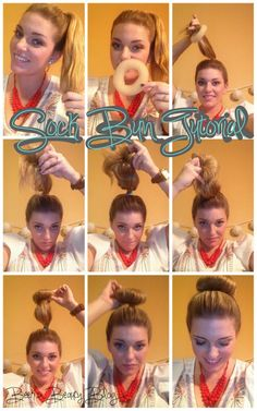 How to Do a Messy Bun Step by Step | Step 1 : Put your hair in a pony tail. I did a high pony because it's ...