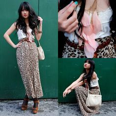 Pink Feathers & Leopard Print (by Natalie Liao) http://lookbook.nu/look/1618125-Pink-Feathers-Leopard-Print