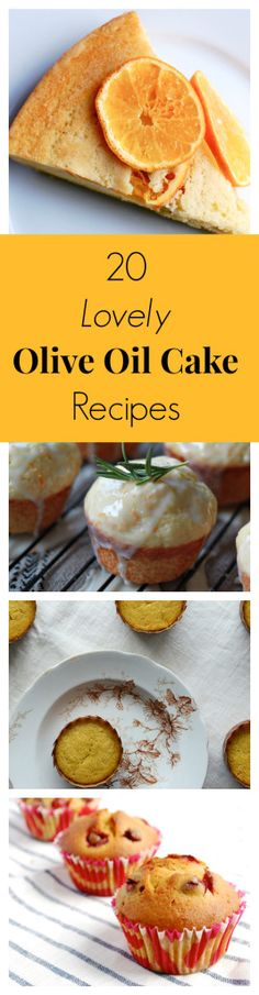 Olive oil cakes and muffins, yum!