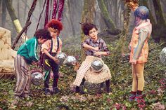Photographer Coco Amardeil's stunning kids fashion editorial for Hooligans magazine, the Disco Forest is as stunning as it is surreal.