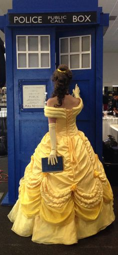 Beauty And The TARDIS Cosplay Inspired By Karen Hallion's Art