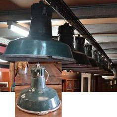 Robert Mills Architectural Antiques - 6 French 'Sammode' industrial enamel light shades