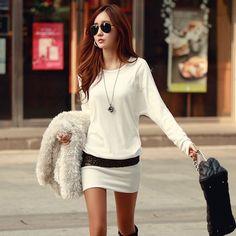 New Fashion Sexy Women Ladies Winter Bottom Slim Knit Knitwear Sweater Dress Bronzing Slim package hip