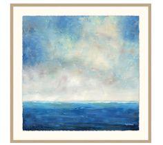 Seascape Horizon Framed Print | Pottery Barn