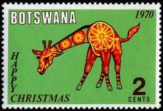 Christmas Around The World - Stamp Community Forum - Botswana giraffe stamp