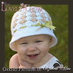 Baby Hat Crochet Pattern for SWEET ELEGANCE CLOCHE. $5.95, via Etsy.