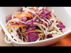 Thanksgiving Recipes: Shredded Cabbage Salad - Mark Bittman - YouTube