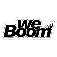 NCT Dream We Boom Comeback Logo Monochrome Black and White Sticker Pop Stickers, Tumblr Stickers, Printable Stickers, Nct Winwin, Nct Yuta, Nct Johnny, Logo Sticker, Sticker Design, Nct Taeyong