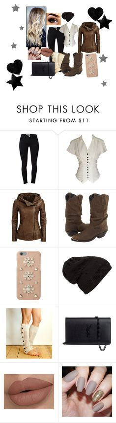 """""""black & brown"""" by babygurl-faithy ❤ liked on Polyvore featuring Frame Denim, Dingo, MICHAEL Michael Kors, Grace and Yves Saint Laurent"""