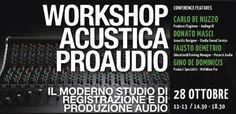 http://www.mynd-magazine.it/appuntamenti/details/174-innovazione-e-musica-workshop-gratuito-di-acustica-e-audio-professionale.html Workshop GRATUITO di Acustica e Audio Professionale al Conservatorio Tito Schipa di Lecce, dalle 11 alle 19. L'evento vanta il prestigioso patrocinio di AES Italy. I relatori: Carlo De Nuzzo, Donato Masci, Gino De Dominicis, Fausto Demetrio. Il Workshop è per tutti, consigliamo di segnalare al più presto la propria presenza scrivendo a: info@audiogrill.it