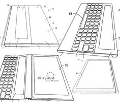 Nokia's patent application for Surface-like tablet cover pops up Patent Filing, Tablet Cover, Surface, Tech, Windows 8, Technology
