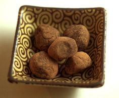 Peanut flour truffles