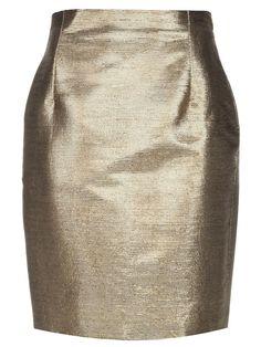 Gianni Versace Vintage Metallic skirt #womens #metallic #skirt #gold #short #versace #vintage #love #wantering